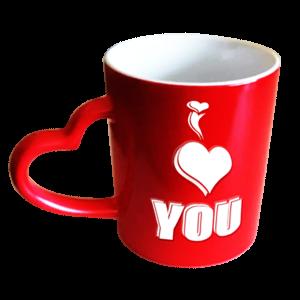 Red colour changing mug