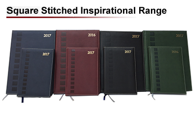 Square stitched inspirational diary