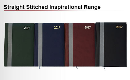 Straight stitched inspirational diary