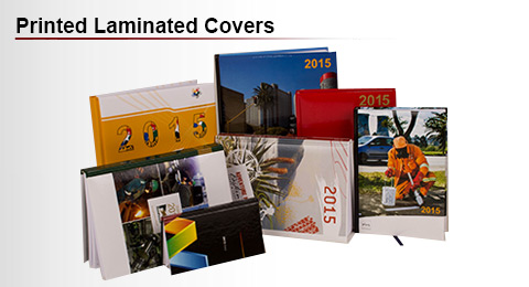 Diary with printed laminated covers