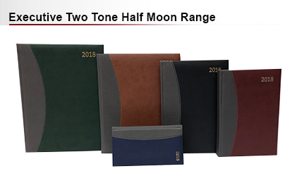 Executive two tone half moon diary